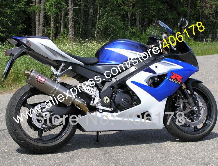 Hot Sales,Promotion Blue White For SUZUKI GSXR1000 05 06 GSX R1000 2005 2006 GSXR 1000 K5 ABS Moto Fairing (Injection molding)