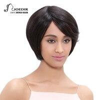 Joedir Brazilian Virgin Hair Straight Short Human Hair Wigs For Black Women Non Lace Wig 360 Full With Baby Hair 150% Density
