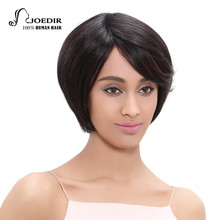 Joedir Brazilian Virgin Hair Straight Short Human Hair Wigs For Black Women Non Lace Wig 360 Full With Baby Hair 150% Density