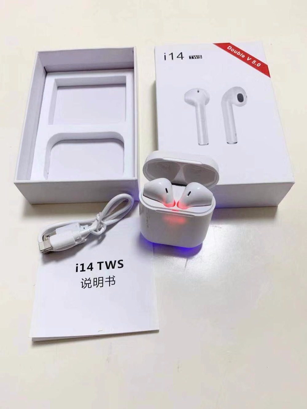 <font><b>Original</b></font> <font><b>i14</b></font> <font><b>TWS</b></font> touch control wireless Bluetooth 5.0 heavy 3D surround sound earphones pk i10 i11 i12 i13 <font><b>tws</b></font> for smart phones image