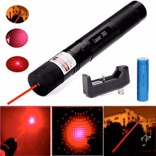 XpertMatic 532nm 50mw 303 Red Laser Pointer Lazer Pen High Power Beam +18650 Battery+ Charger Pencil Toy