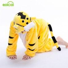 Детские пижамы с изображением тигра; фланелевые пижамы с капюшоном для косплея; пижамы для мальчиков и девочек; одежда для сна; детские рождественские пижамы