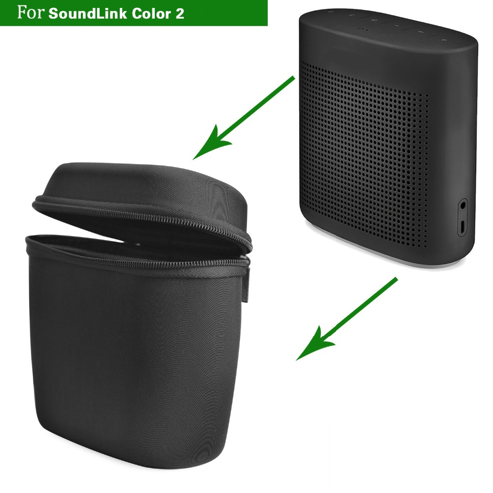 Portable Speaker Case Box For Bose Soundlink Color I/ Color II Bluetooth Speaker Protective Nylon Cover Case 14.5x16x6cm