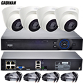 GADINAN IP PoE Kit FULL HD CCTV Система 4CH Видеонаблюдения PoE система 4CH 1080 P NVR + 4 ШТ. 1080 P HI3516C Купола PoE, Ip-камера
