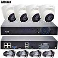 GADINAN Kit IP PoE FULL HD CCTV Sistema de Vigilância CCTV 4CH PoE sistema 4CH 1080 P NVR + 4 PCS 1080 P Câmera IP PoE Cúpula HI3516C