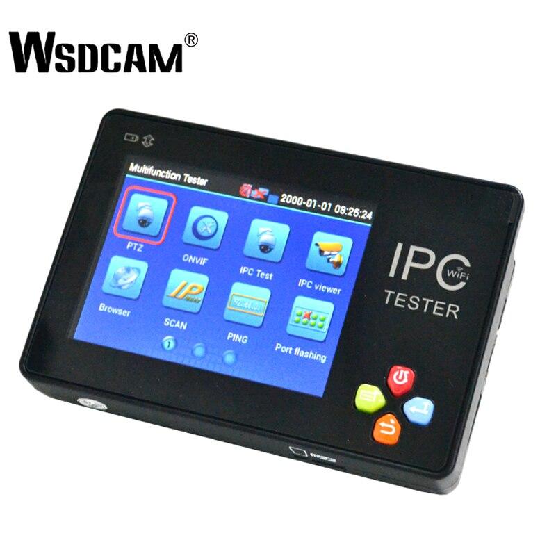 Tester CCTV Portátil 3.5 Polegada Wsdcam TFT-LCD Tela Sensível Ao Toque de Pulso Multifunções Tester Câmera IP Suporte ONVIF PTZ WI-FI IPC-1600