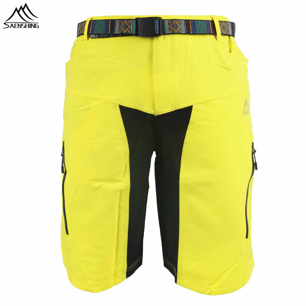 SAENSHING Downhill MTB Mountain Bike Shorts Men Bicycle Cycling Shorts With Belt Breathable Short Vtt bermuda ciclismo cycling