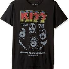 Men T Shirt Custom Kiss Tour '74 Vintage