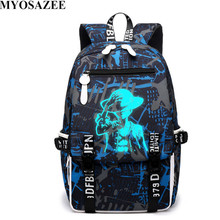 Ledani New Design One Piece Backpacks Luminous 4 Colors School Bags Canvas Printing  For Teenagers Backpack myosazee brand new design one piece backpacks luminous 4 colors school bags canvas printing for teenagers backpack male bag