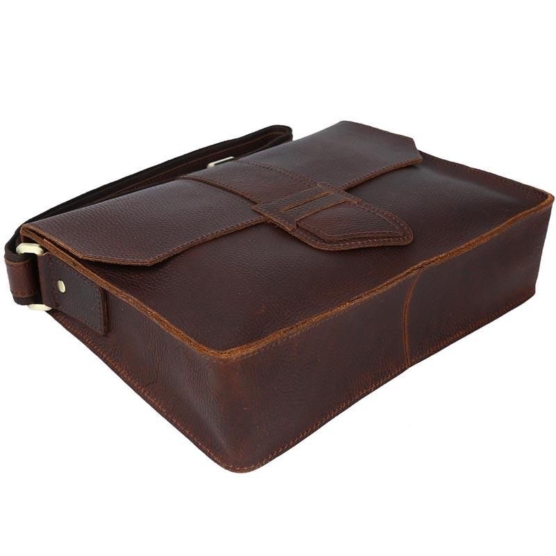 2017 Handmade Men's Messenger Bag Genuine Leather Satchel A4 Document Book Bag Brown Shoulder Bag For Men unique design  1083 a z of embrodiery chinese embroidery handmade art design book