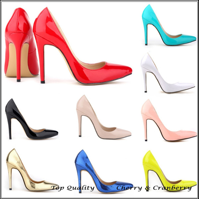 Classic Sexy Pointed Toe High Heels Women Pumps Shoes New 2014 Spring Brand  Design Wedding Shoes Pumps 23 Colors Big Size 35-42 cfb1db9d2293