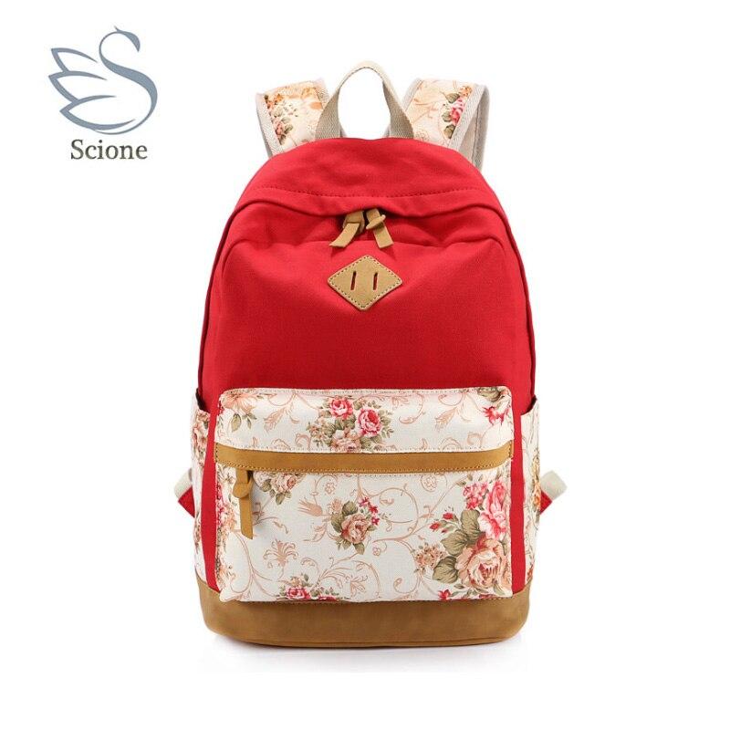 2018 Новый стиль красочные молодежи путешествия холст Schoobag сумка рюкзак корейский моды модницы для школьниц дочь дамы