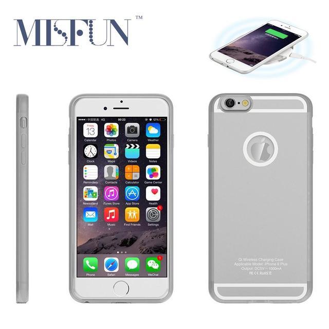Ци Беспроводное Зарядное Устройство Приемника Чехол Для Iphone 5 5S SE 6 6 s 6 6 S Plus ТПУ Soft Phone Чехол, Используемый Беспроводной Зарядки Pad T0910