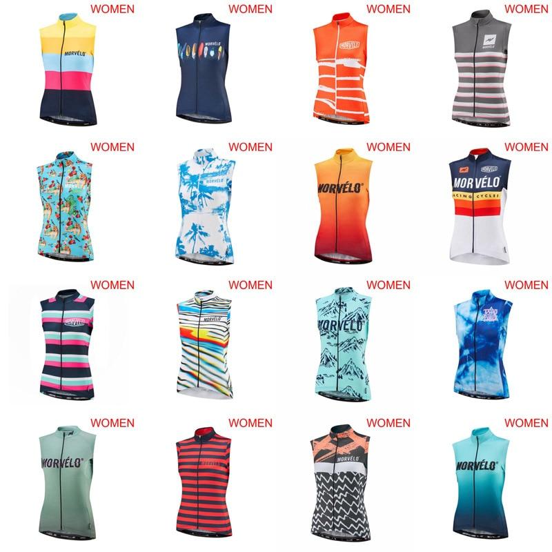 2019 Morvelo Women Pro Cycling Jersey Sleeveless Ciclismo Ropa Bike Clothes U70904