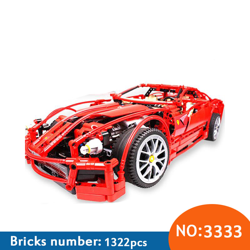 Decool 3333 racing car Building Blocks DIY Bricks Toy Set Car Racers Car Gift Toys for Children Compatible 8145 in stock dhl decool 3333 building blocks toy 1 10 car model supercar red assemblage racing brain game gift clone 8145