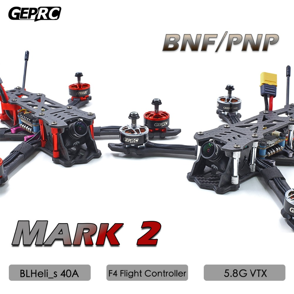 GEPRC Mark2 PNP BNF Version FPV Brushless RC Racing Drone Quadcopter with 230mm 40A BLHeli s