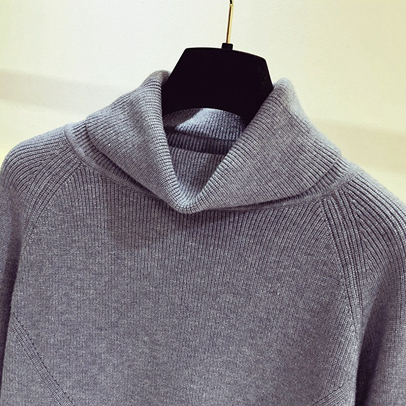 GIGOGOU Thick Turtlneck Cowl Neck Women Sweater Streetwear Knitted Pullovers Top Autumn Winter Clothes Christmas Sweater