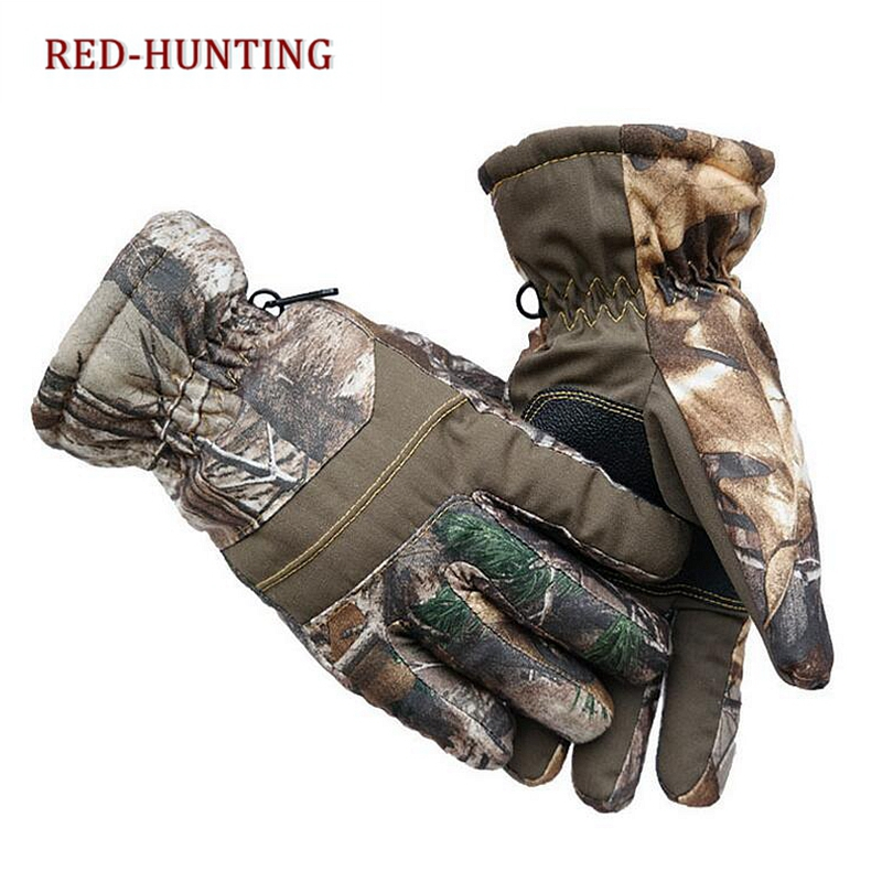 Outdoor Thickening Camouflage Gloves Windproof Warm Tactical Hunting Gloves