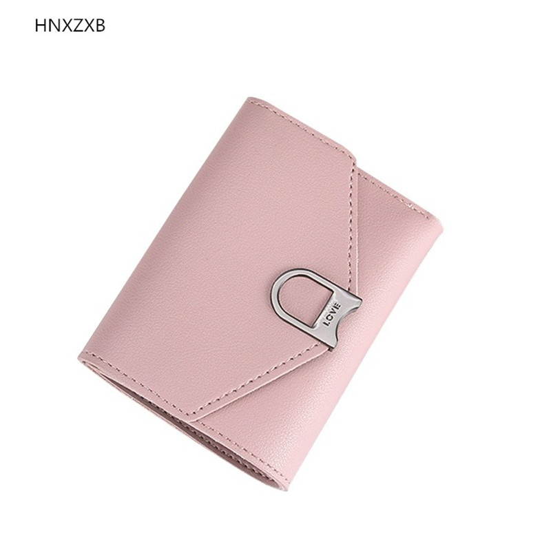 HNXZXB Korean Design Envelope Hasp Short Lady Wallets, Mini Small Women Wallet Purse Soft Leather Crad Holder Coin Bag casual weaving design card holder handbag hasp wallet for women