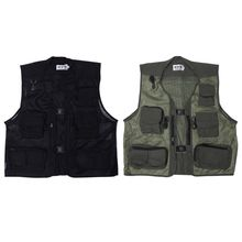 Fishing Vest Professional Outdoor Sports Mesh Breathable Jacket Multi Pockets Ultralight Quick Dry Men Waistcoat Clothes Coat недорого