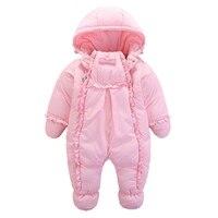 2017 الشتاء الطفل بانخفاض سترة الرضع الفتيات الدافئة قطعة واحدة 100% بطة أسفل سميكة معطف الاطفال outerwears 1-2yrs ل البرد 20c