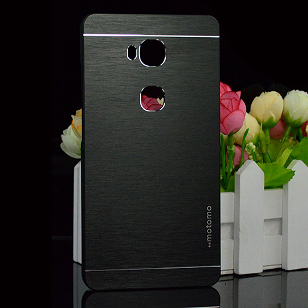 For Huawei Honor 5X X5 GR5 2016 GR5W Fashion Motomo Brushed Aluminum Metal Plastic Case Cover Capa Celular funda hood