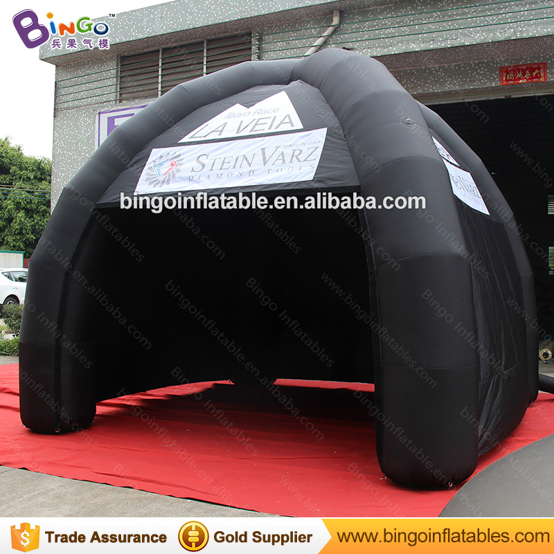 Free shipping all black inflatable spider gazebo tent customized blow up canopy tent for event with logo printing toy tents free shipping 10m giant inflatable octopus model with digital printing for advertising blow up squid for decoration show toys