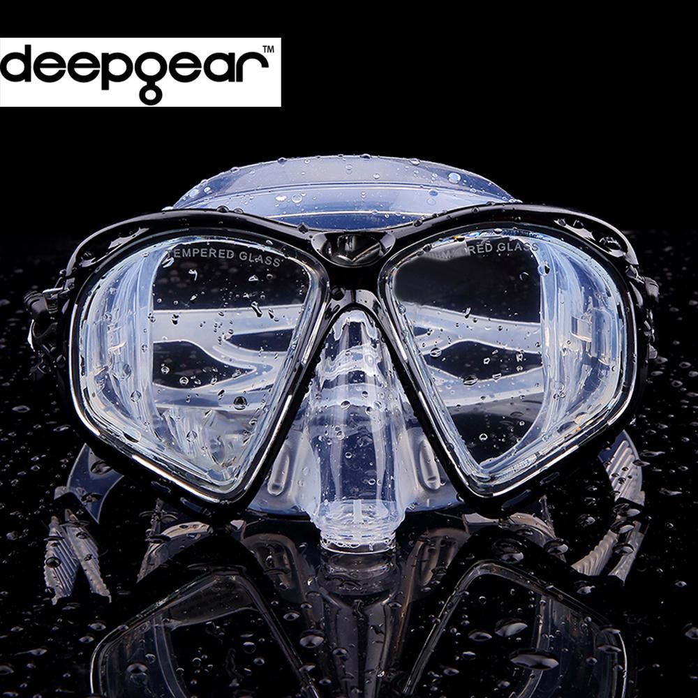 Prix pour Cène Effacer silicone plongée sous-marine masque Top prescription myopes optique masque de plongée Adulte tuba engrenages équipement de plongée
