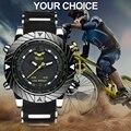 WOLF-CUB спортивные часы Для мужчин силиконовый ремешок модные Повседневное светодиодный цифровой мужской черный, военные, кварцевые, США Фирм...