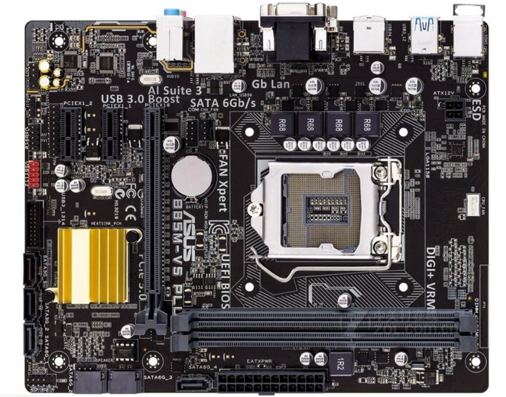 original Asus B85M-V5 PLUS Desktop Motherboard B85 Socket LGA 1150 i7 i5 i3 DDR3 16G SATA3 Micro-ATX mainboard asus b85m e desktop motherboard b85 socket lga 1150 i3 i5 i7 ddr3 32g atx uefi bios original used mainboard on sale