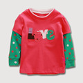 Hot Retail Kids T shirt Cotton Long Sleeves T shirt Children Girls Tops Tees Kids T shirt Children's T-shirts 1.5-6 years