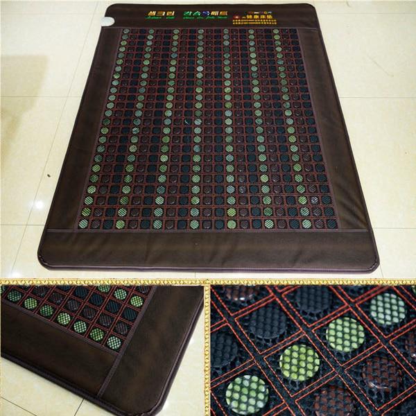 Gratis forsendelse til Jade Madras Germanium Stone Mat Jade Opvarmet Madras Naturlig Tourmaline Mat Skønhed Madras Størrelse 1.9x1.2M
