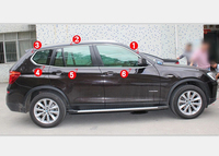 For BMW X3 F25 2011 2014 Window Sill Trim Frame Covers Full Kit Stainless Steel 12pcs
