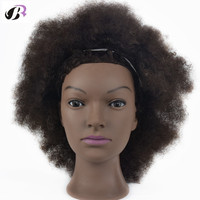 Free Shipping Africa Male Hman Hair Training Mannequin Head For Hairdressers Professional Styling Mannequin Doll Head