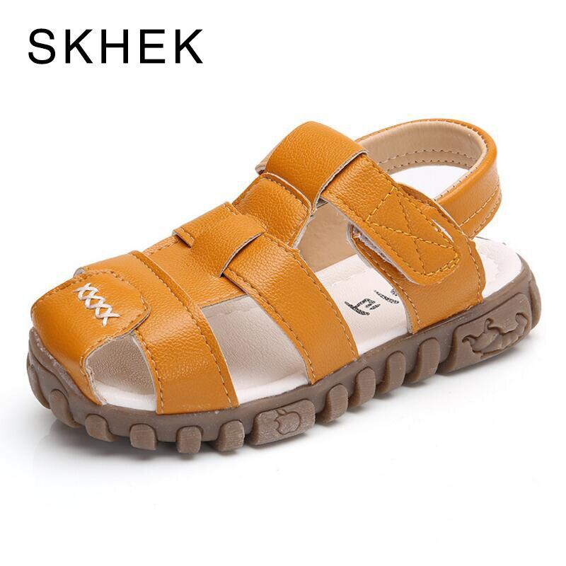 SKHEK Boys sandals summer sneakers kids shoes infantil boys beach sandals Toddler Baby sandals factional shoes size 21-30