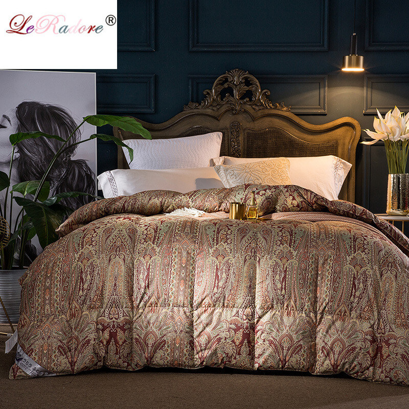 LeRadore Luxury Goose Quilt Duvet For Four Seasons Queen King Size High-Quality Blanket Comforter Free Shipping Twin Comforter