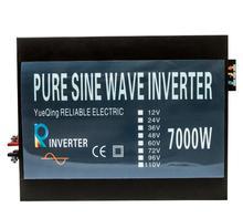 7000W Off Grid Pure Sine Wave Solar Power Inverter DC AC Converter 12V/24V 220V/230V Power Supply/Power Generator/Solar System