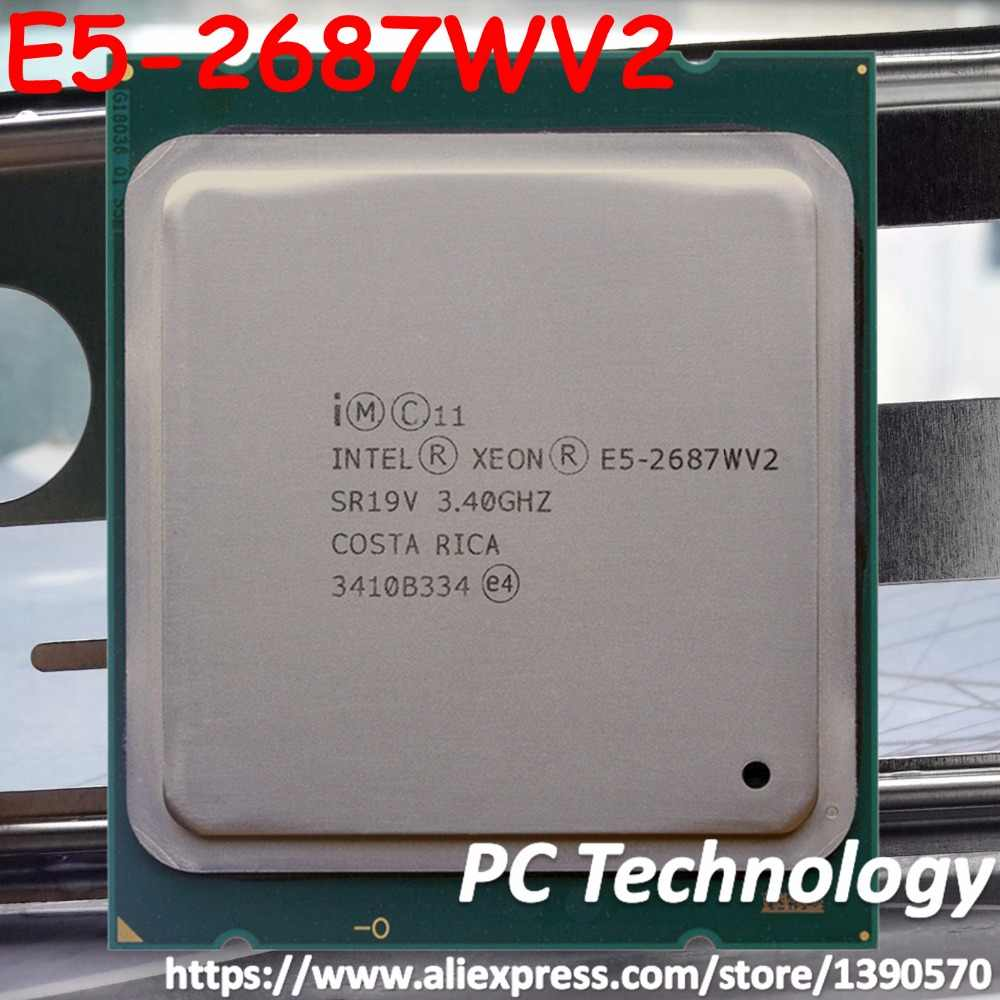 Original Intel Xeon cpu oem version E5-2687WV2 3.4GHZ 25M 8CORES 22NM E5 2687W V2 LGA2011 E5-2687W V2 150W Processor E5 2687WV2