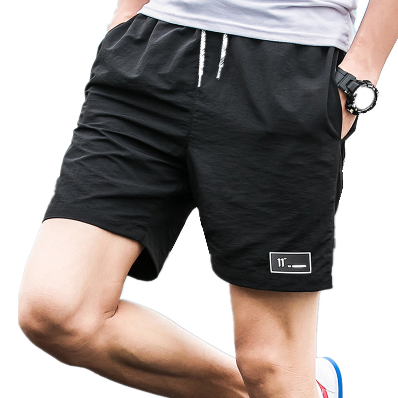 2018 Casual Shorts Men Breathable Shorts Male Elastic Waist Beach Shorts Mens Knee Length Quick Drying Jogger Board Shorts Homme