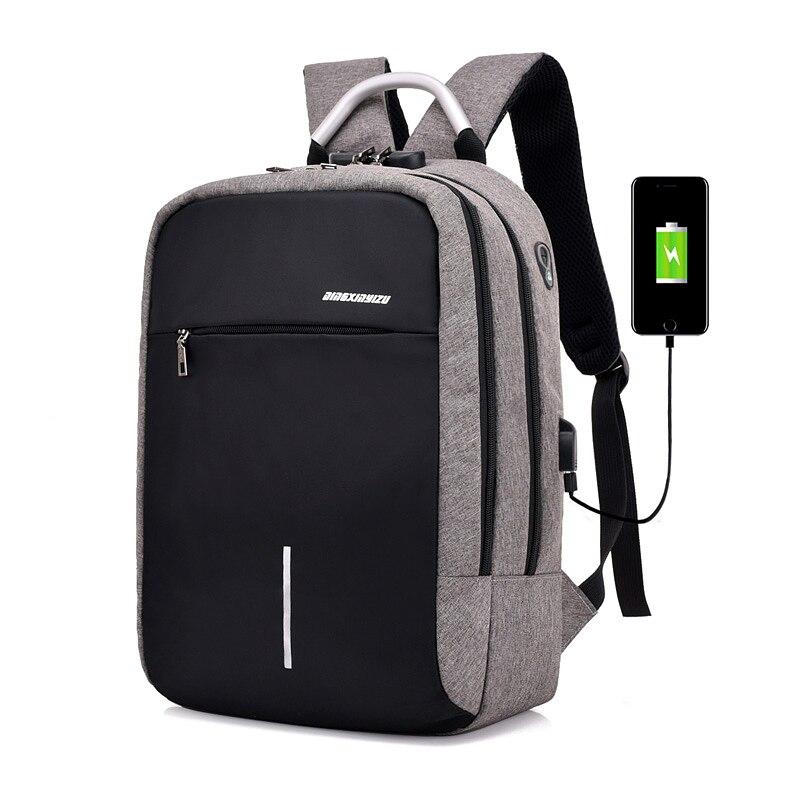 Carica USB Anti Theft Zaino per Gli Uomini 15 pollice Laptop Mens Sacchetti di Scuola zaini borsone Moda Viaggi Bagpack sac a dos mochila