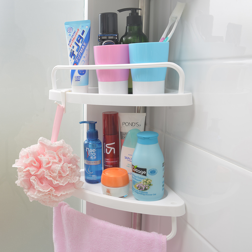 four layers shower corner caddy bathroom corner shelf kitchen corner ...