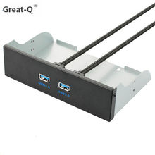 Great-Q New 2 Ports USB 3.0 Hub 20 Pin Expansion Front Drive Panel Bracket For Desktop Wholesale