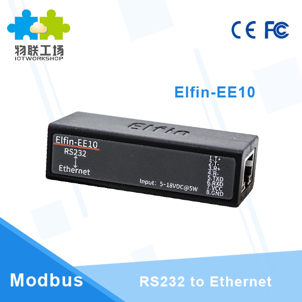 HF Smallest Elfin-EE10 Wireless Networking Devices Modbus TPC IP Function RJ45 RS232 To Ethernet Serial Server