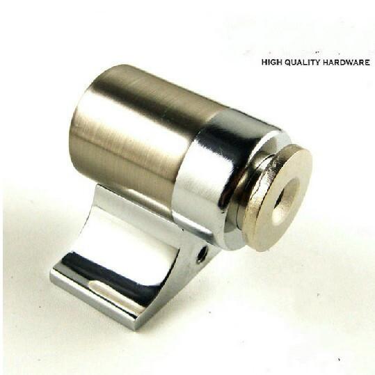 Moderno cor prata luxo de zinco porta da liga rolha porta clássica pára forte captação de plástico magnetismo Frete grátis