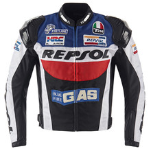 2016 Top quality Motogp REPSOL Motorcycle Jacket Automobile Street Racing Clothing Windproof Knight HRC Jackets Blue Fire