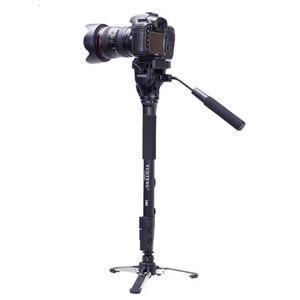 Image 2 - Yunteng 288 Camera Monopod Tripod + Fluid Pan Head Ballhead + Unipod Holder Base Stand for Ditigal Camera DSLR Smartphone Clip
