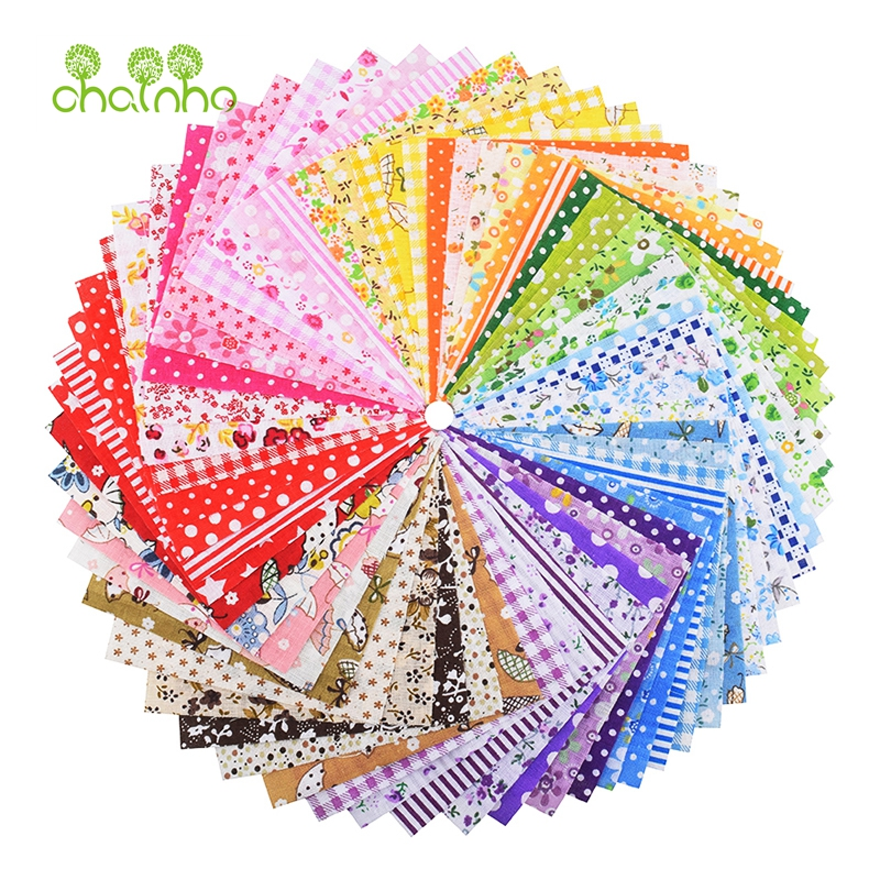 Chainho,Random Thin Cotton Fabric Patchwork For Sewing & Quilting/Classic Charm Squares Tissue/Low Density Cloth/60pcs 10*10cm