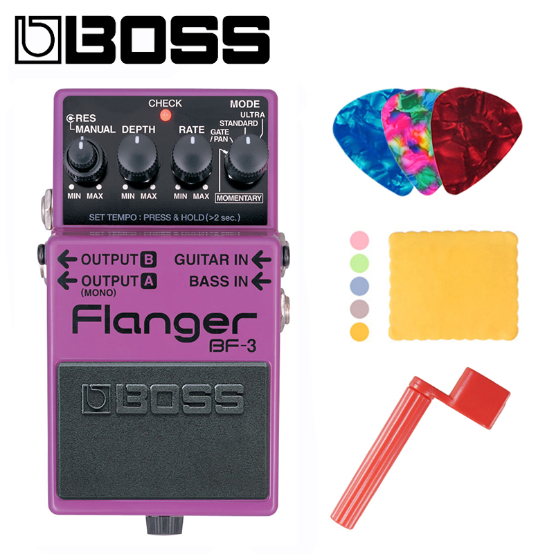 Boss BF 3 Audio Flanger Pedal for Guitar and Bass with Momentary Mode Tap Tempo and