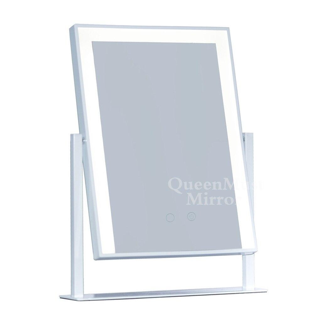 Зеркало для макияжа в голливудском стиле со светодиодными зеркальными полосками и 10 кратным увеличением, косметический дизайн для путешес...