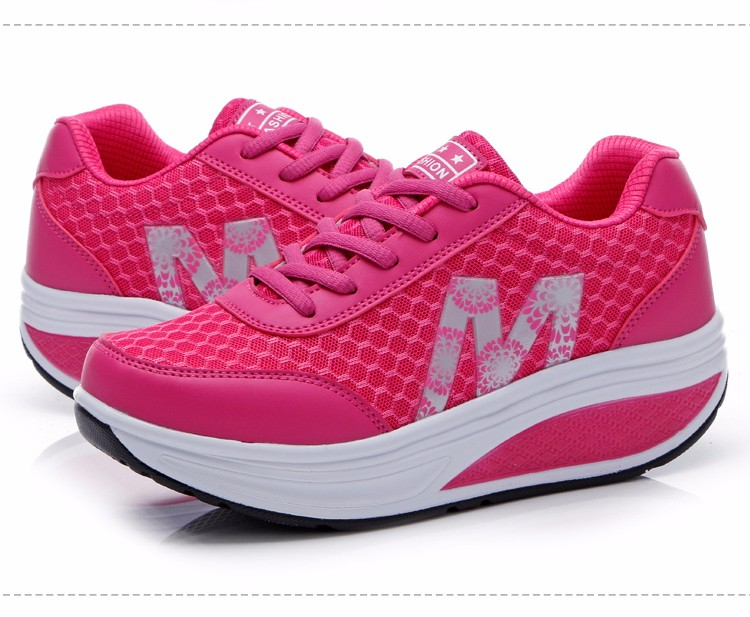 Slimming Shake shoes Women Fashion Breathable Mesh Casual Shoes Spring Summer Lace Up Women Swing Shoes Platform Trainers YD52 (22)